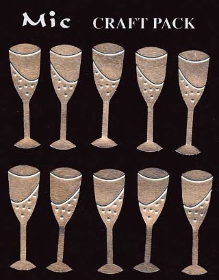 Silver Metal Wine Glass Embellishments